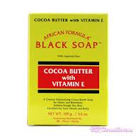 AFRICAN FORMULA Black Soap with Cocoa Butter and Vitamin E